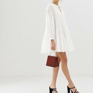 ASOS Design le Tiered Trapeze mini dress